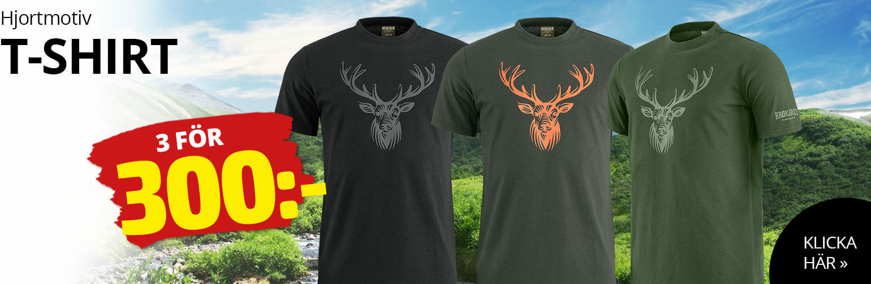 T-shirt med hjortmotiv
