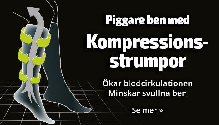 Piggare ben med kompressionsstrumpor