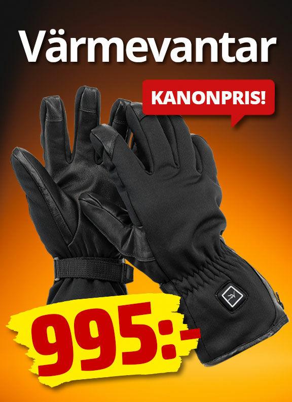 Slipp kalla händer och fingrar med våra fantastiska, batteridrivna värmevantar i skinn och softshell.