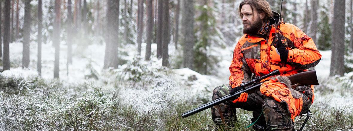 Jaktkläder och tillbehör till jakten
