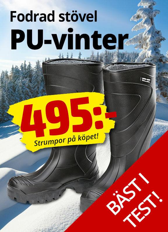 Euro-Hunt PU vinter med extra tjock och isolerad sula. Komfortabel ner till -40º.