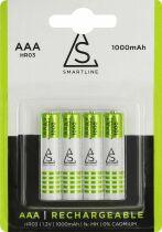 Uppladdningsbara batterier AAA LR03 Smartline 4-pack